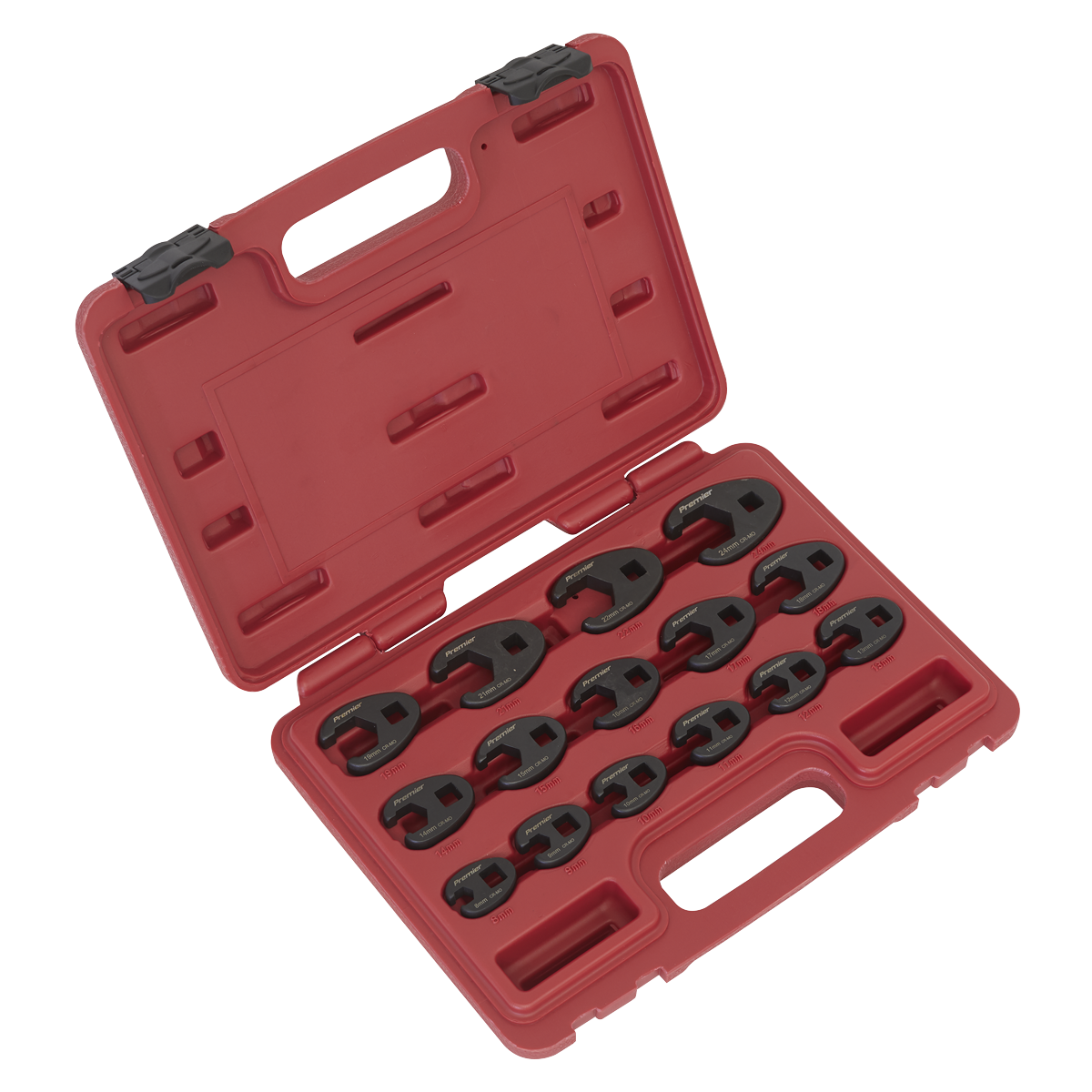 "Crow""s Foot Spanner Set 15pc 3/8""Sq Drive Metric"
