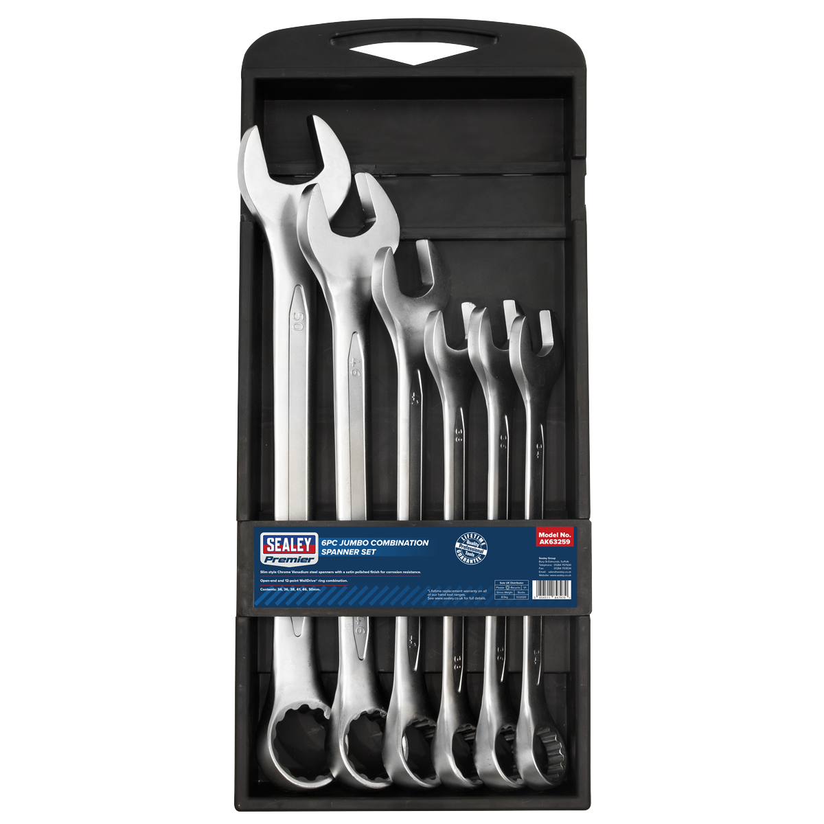 Combination Spanner Set 6pc Jumbo Metric