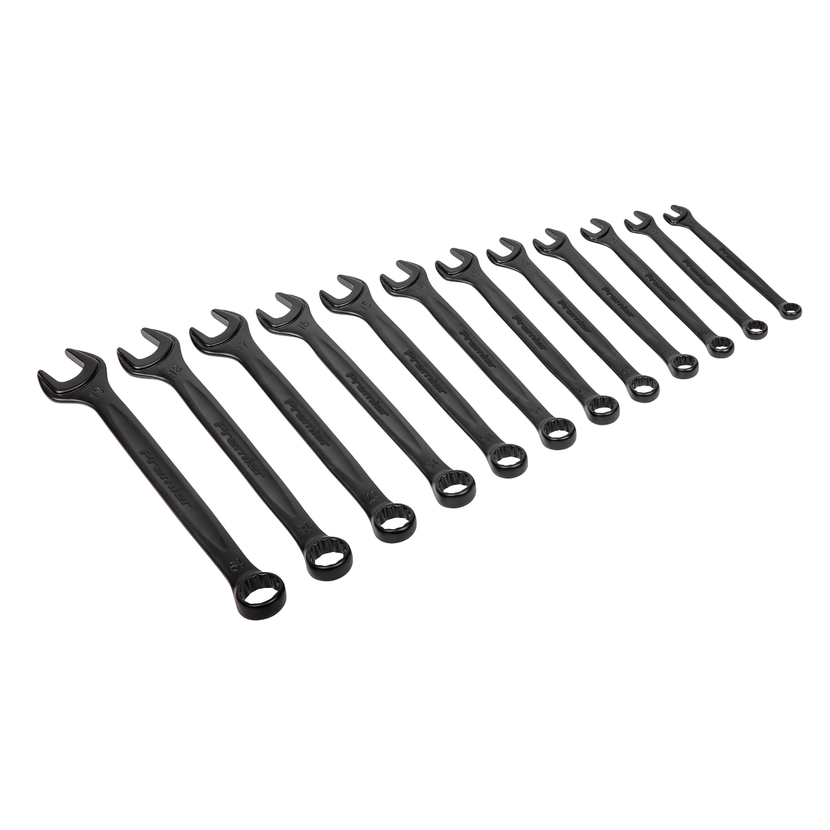 Combination Spanner Set 12pc Metric - Black Series