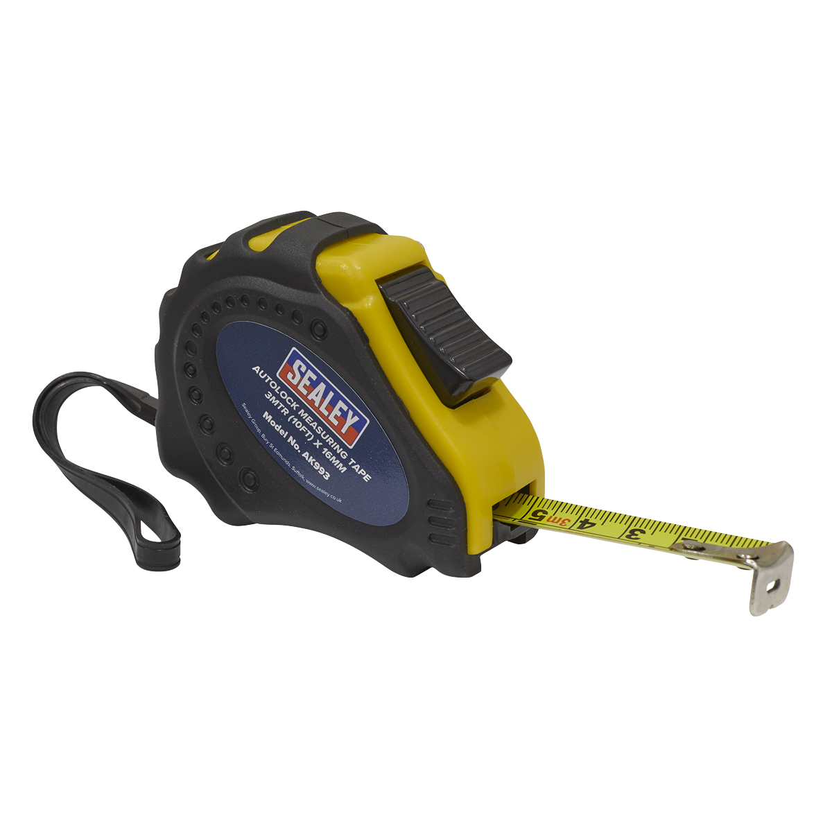 Autolock Tape Measure 3m(10ft) x 16mm - Metric/Imperial