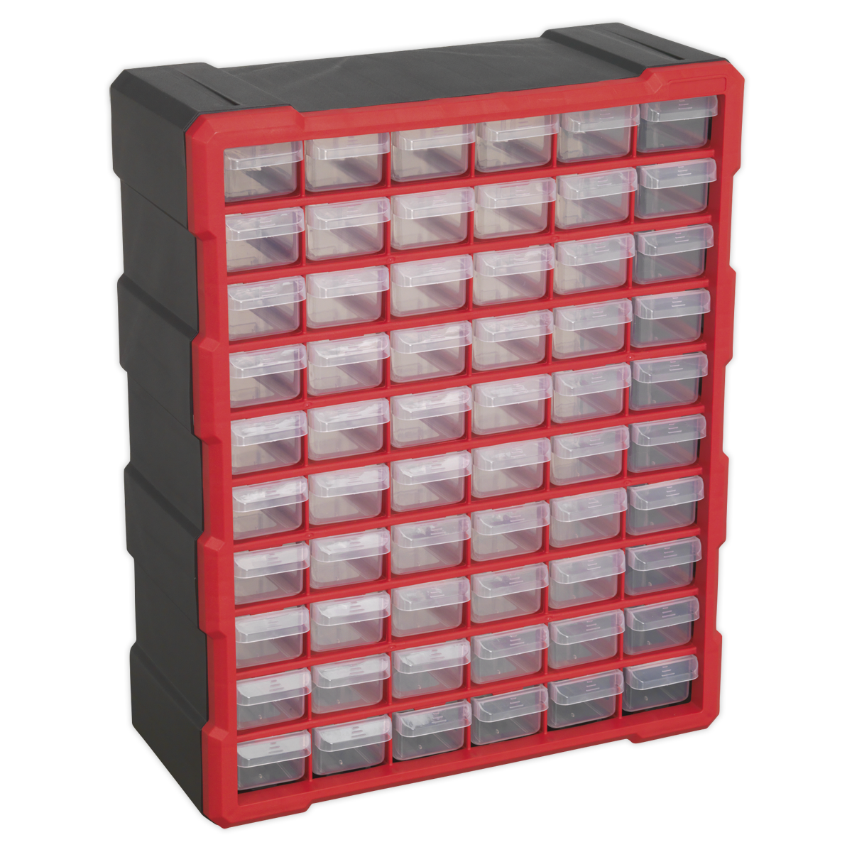Cabinet Box 60 Drawer - Red/Black
