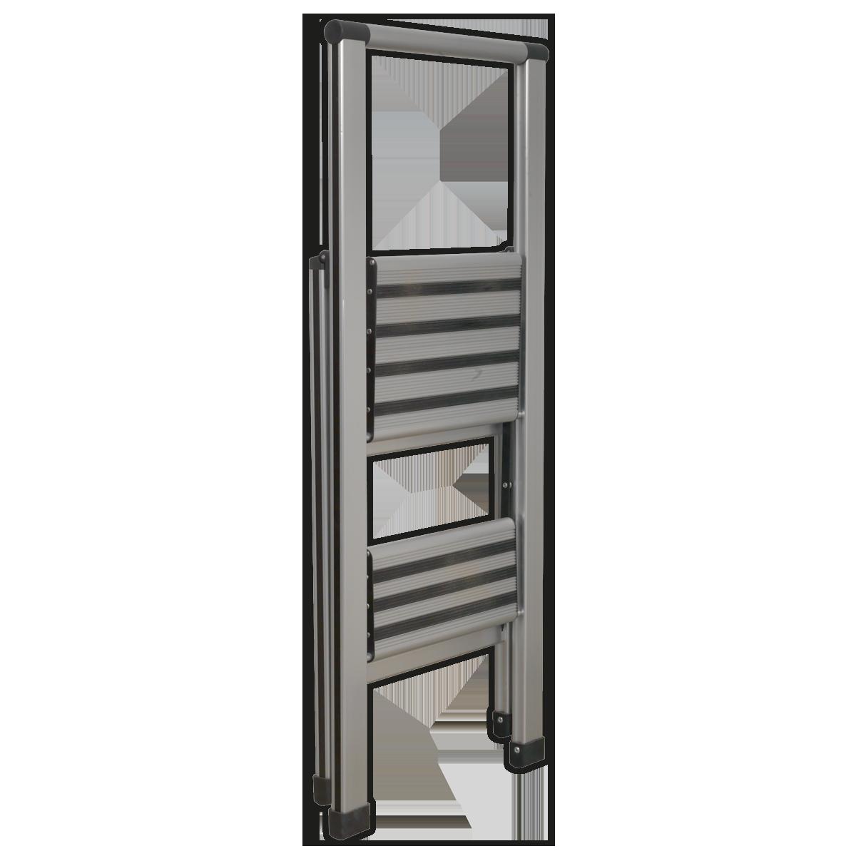 Aluminium Professional Folding Step Ladder 2-Step 150kg Capacity