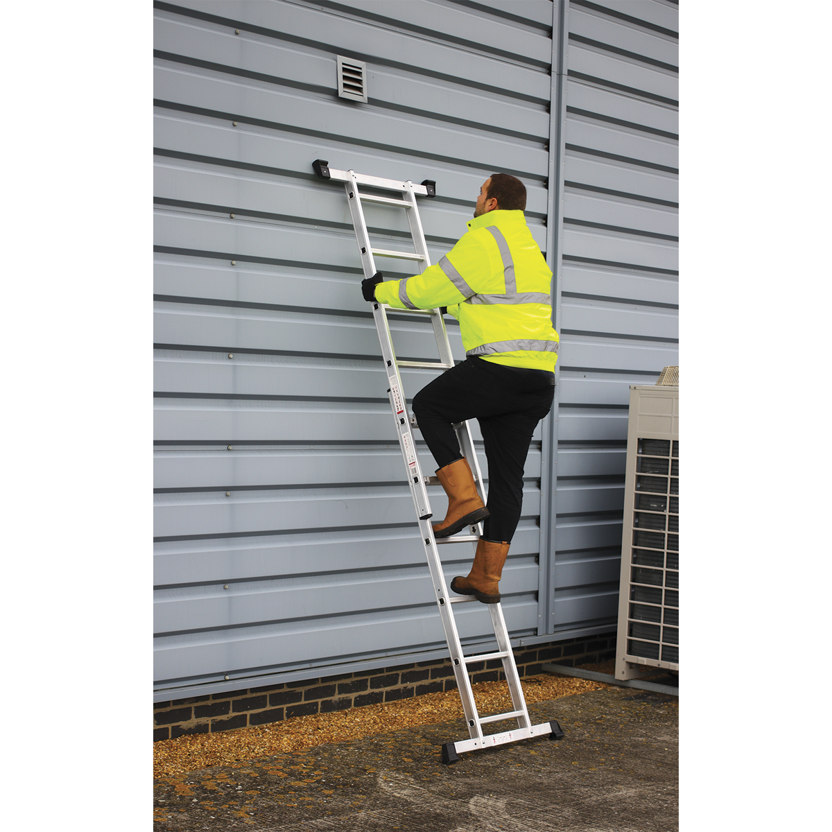 Aluminium Scaffold Ladder 4-Way EN 131