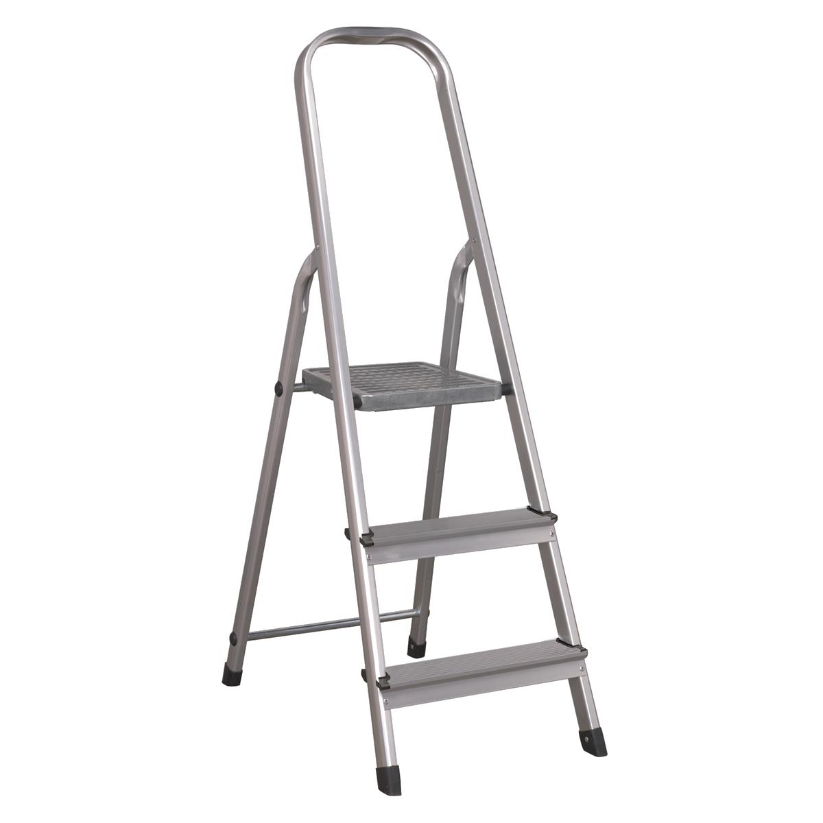 Aluminium Step Ladder 3-Tread EN 131