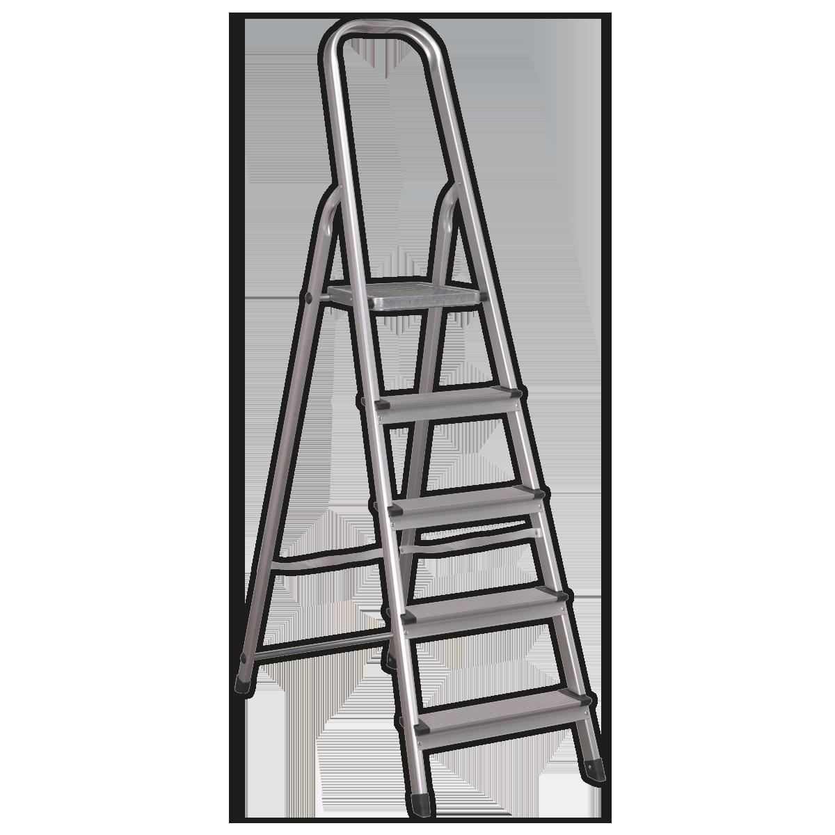 Aluminium Step Ladder 5-Tread EN 131