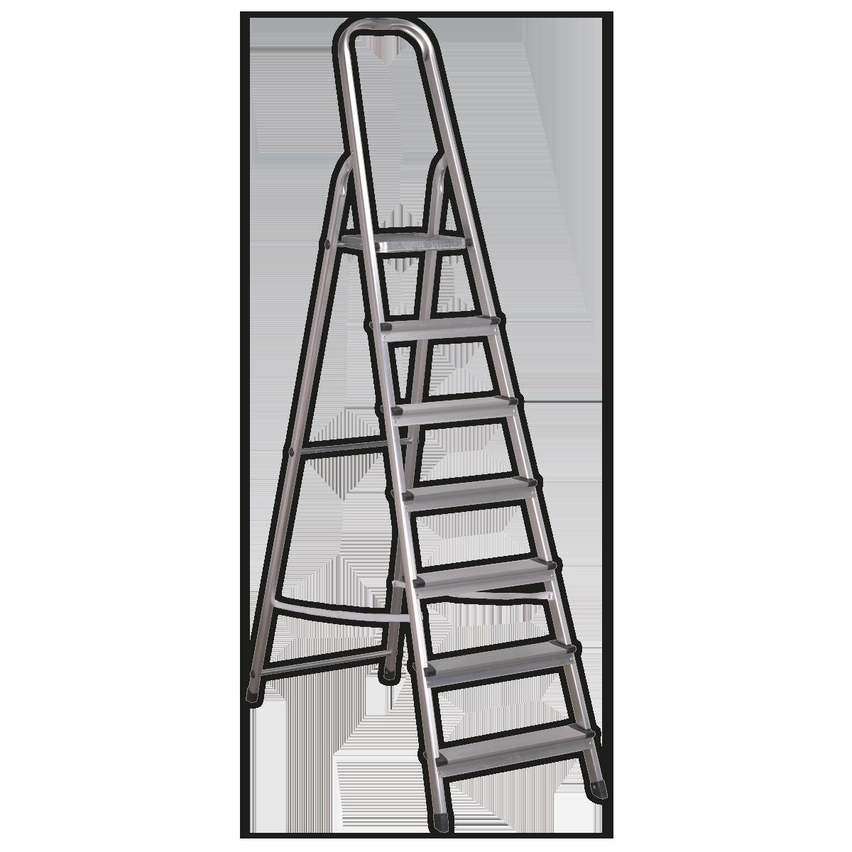 Aluminium Step Ladder 7-Tread EN 131