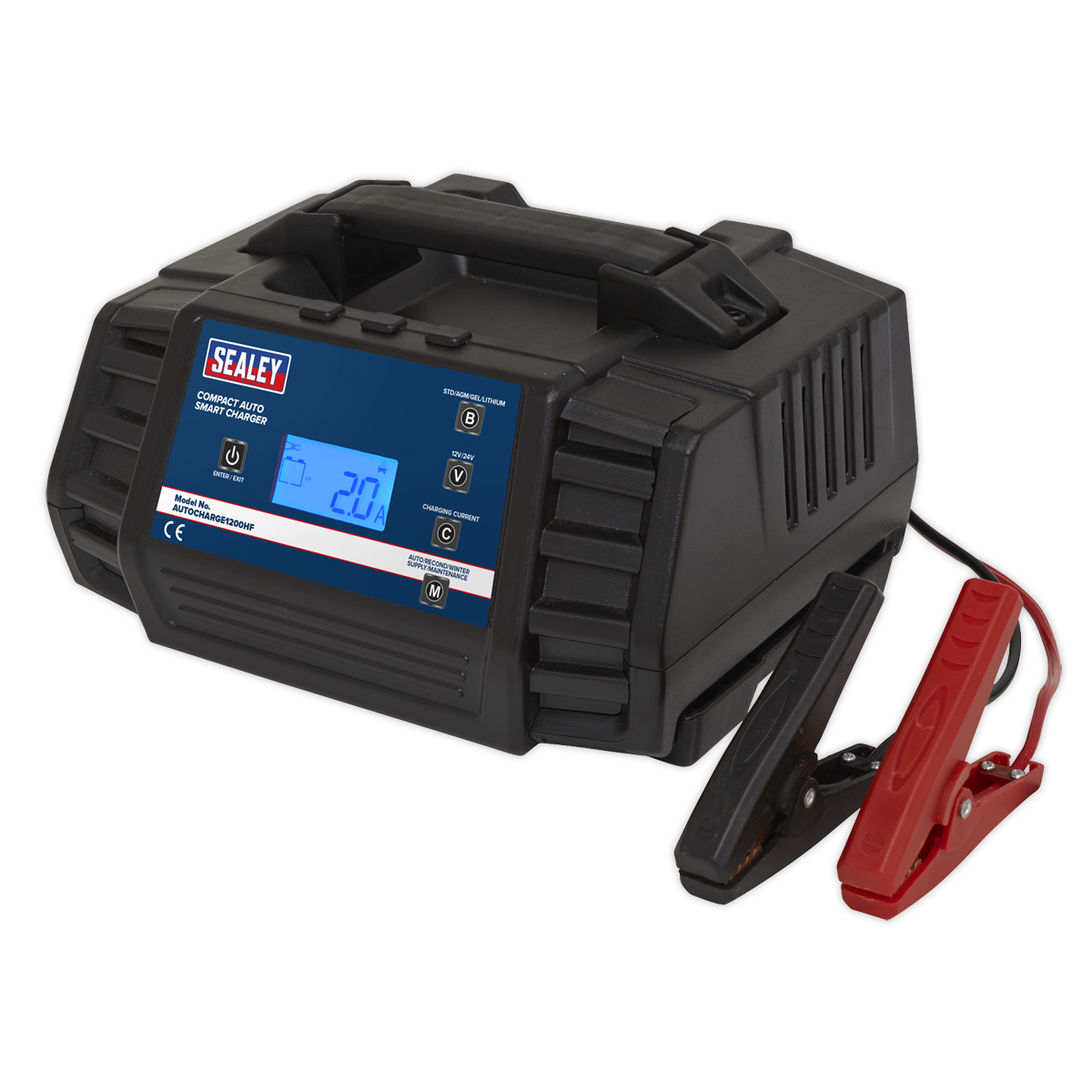 Compact Auto Smart Charger 12A 9-Cycle 12/24V - Lithium