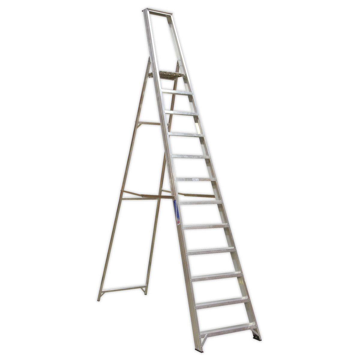Aluminium Step Ladder 12-Tread Industrial BS 2037/1