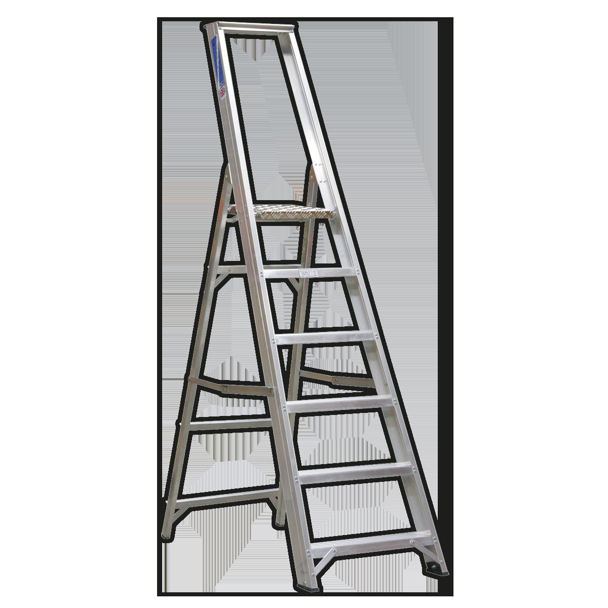 Aluminium Step Ladder 6-Tread Industrial BS 2037/1