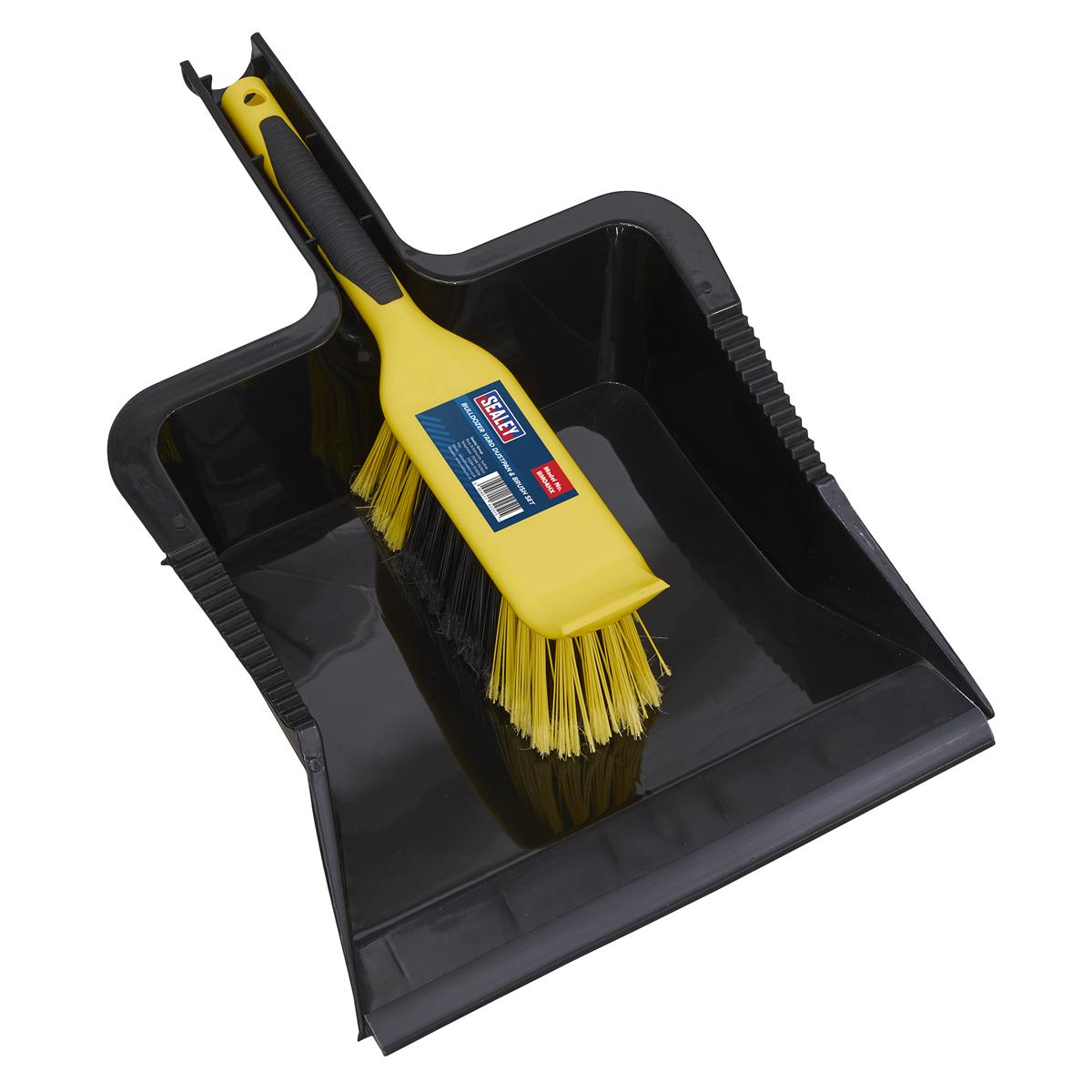 Bulldozer Yard Dustpan & Brush Set