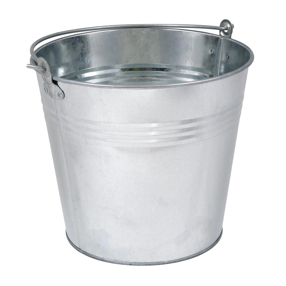 Bucket 12L - Galvanized