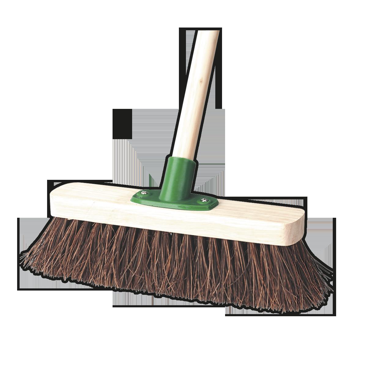 "Broom 12""(300mm) Stiff/Hard Bristle"