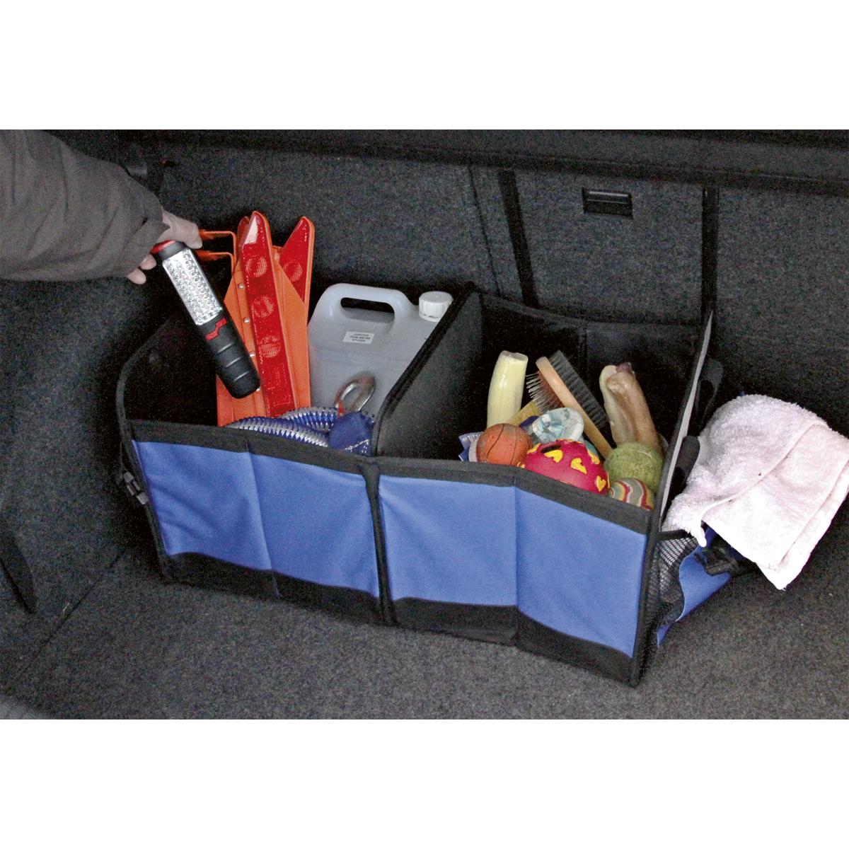 Car Boot Organizer 4 Compartment
