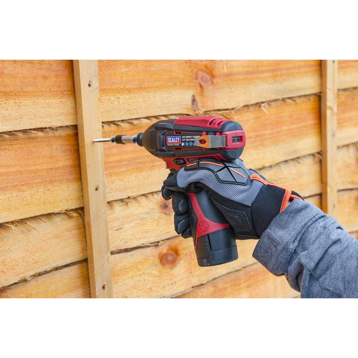 """Cordless Impact Driver 1/4""""Hex Drive 80Nm 12V Lithium-ion - Body Only"""