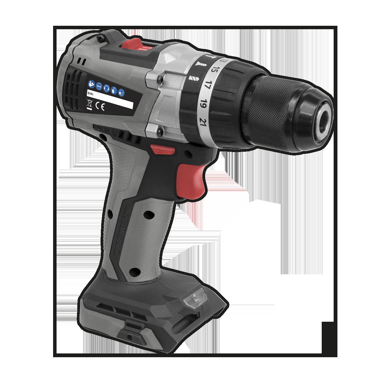 Brushless Hammer Drill/Driver Ø13mm 20V - Body Only