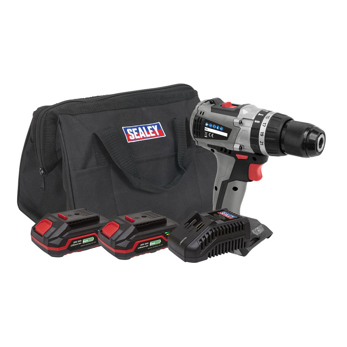 Brushless Hammer Drill/Driver Kit Ø13mm 20V - 2 Batteries