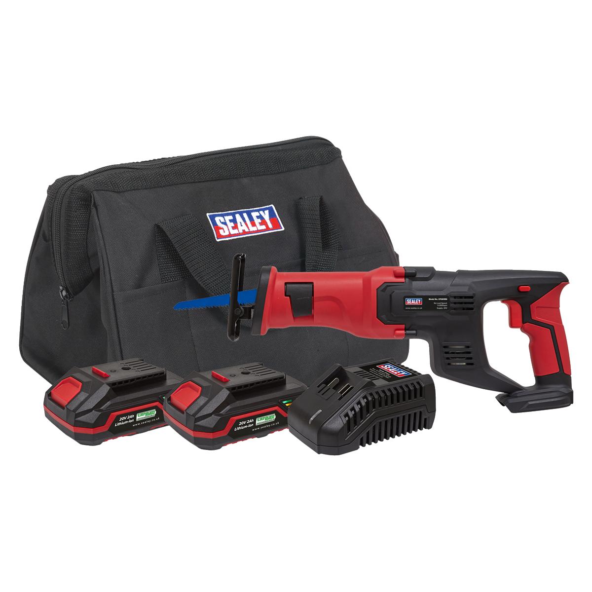 Cordless Reciprocating Saw Kit 20V - 2 Batteries