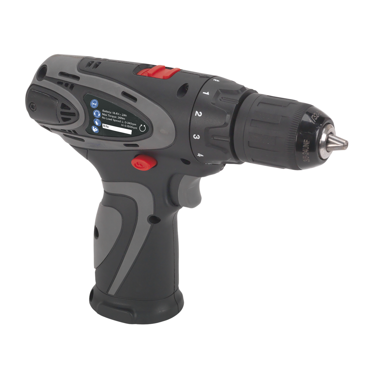 Drill/Driver Ø10mm 2-Speed 14.4V Lithium-ion - Body Only