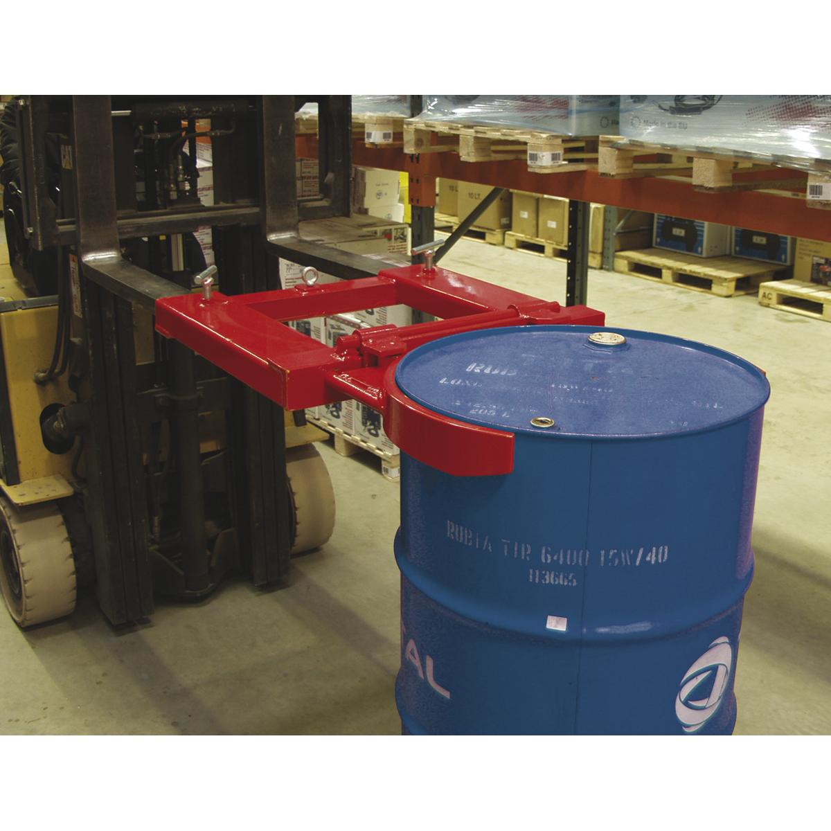 Forklift Drum Clamp Single 205L