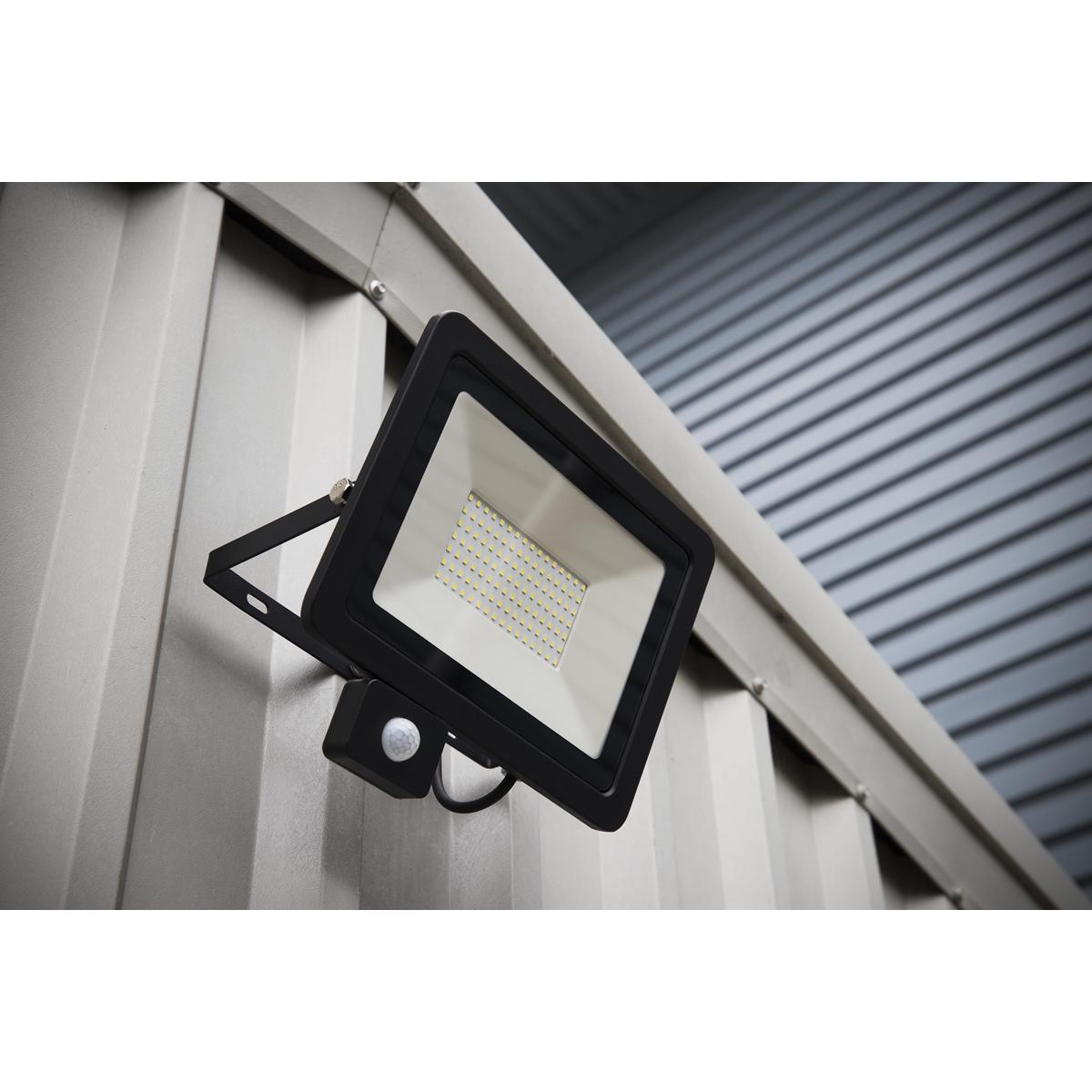 Extra Slim Floodlight with PIR Sensor 50W SMD LED