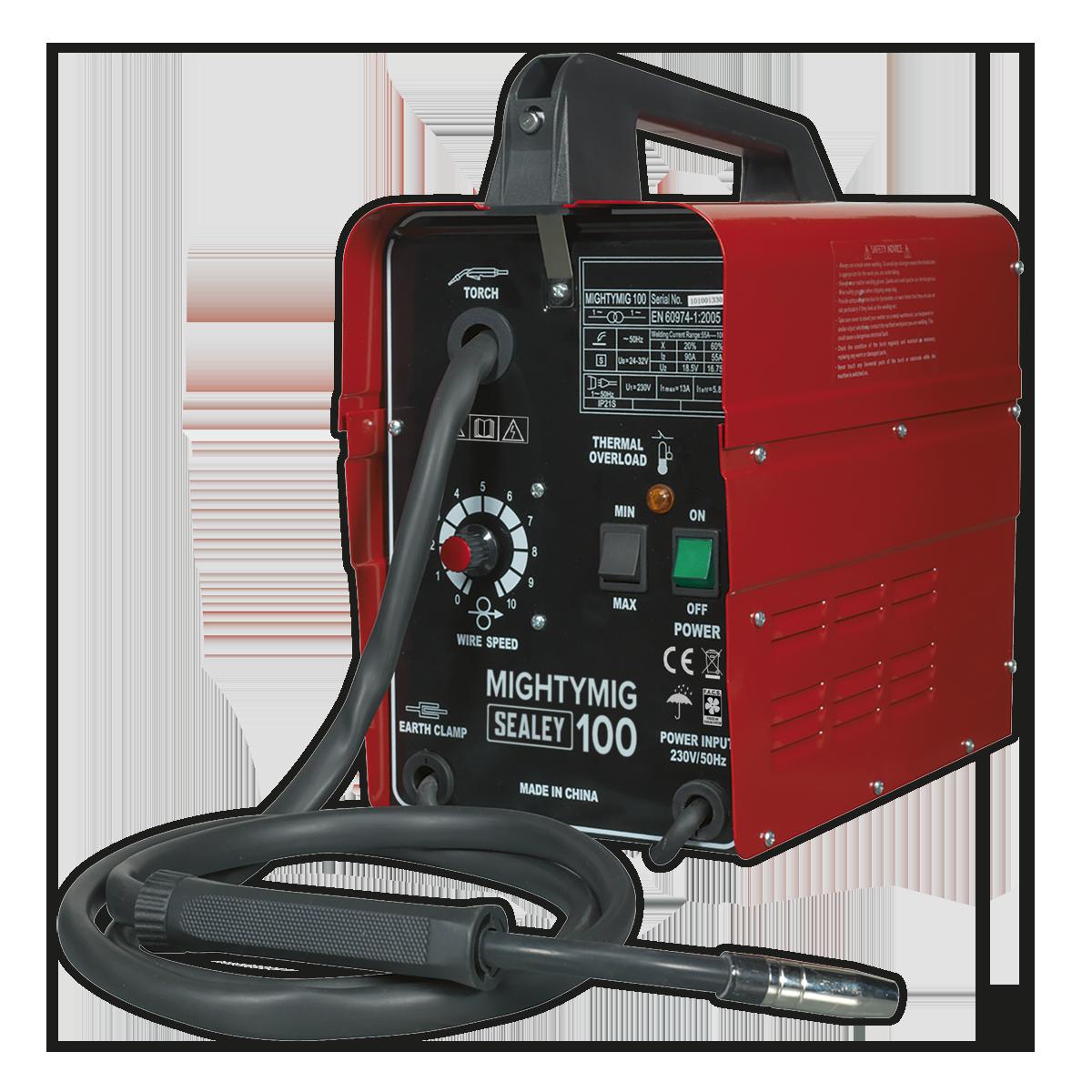 No-Gas MIG Welder 100A 230V