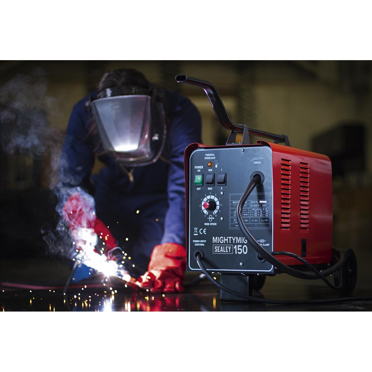 Professional Gas/No-Gas MIG Welder 150A 230V