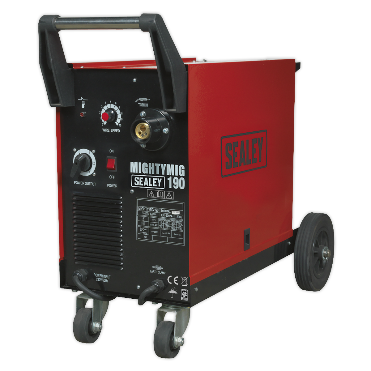 Professional Gas/No-Gas MIG Welder 190A with Euro Torch