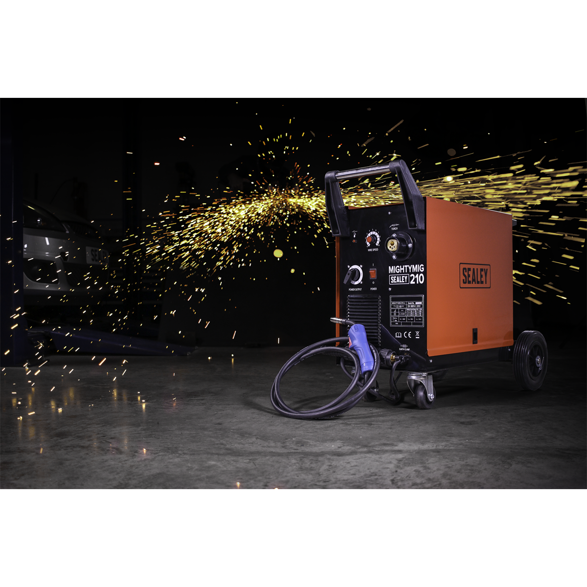 Professional Gas/No-Gas MIG Welder 210A with Euro Torch