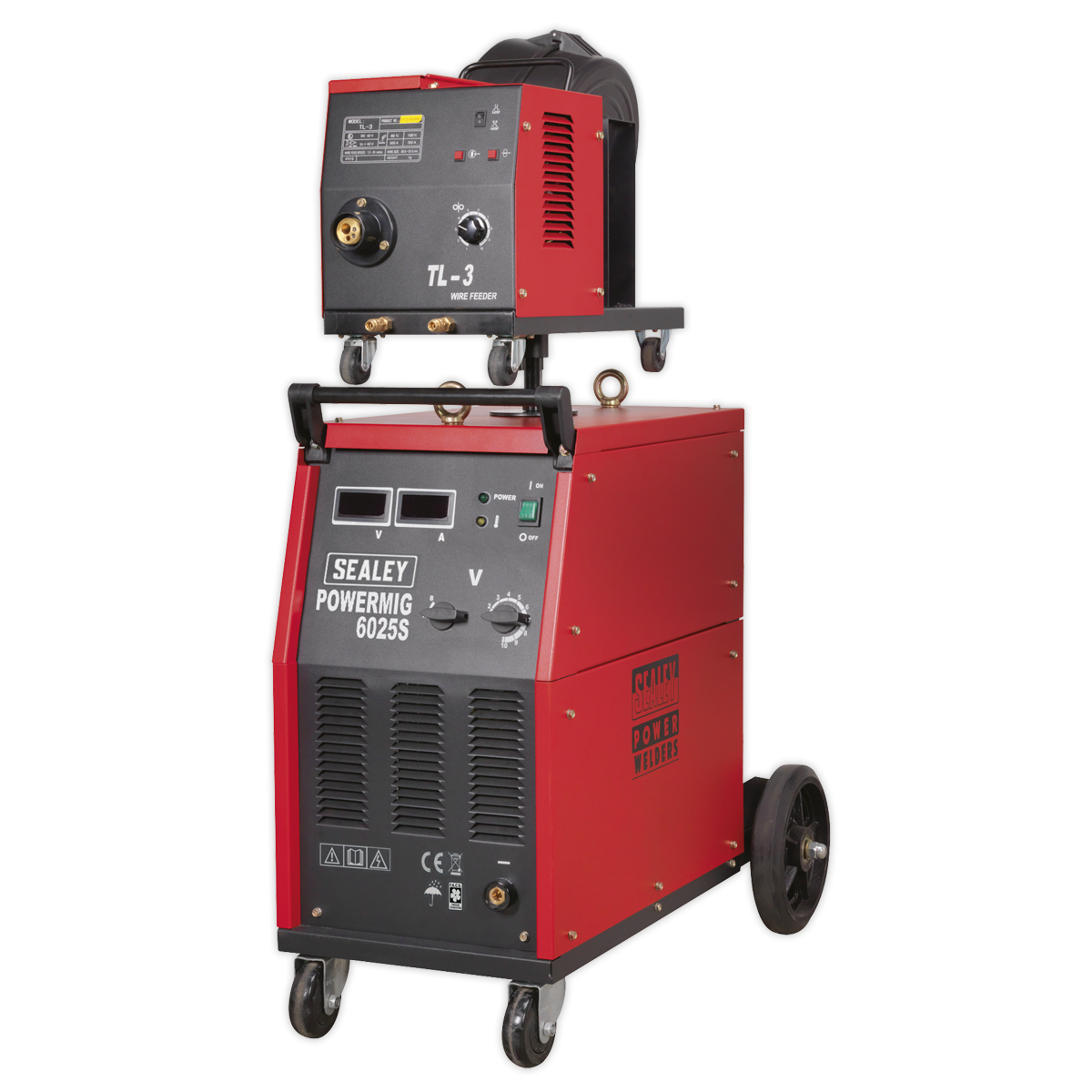 Professional MIG Welder 250A 415V 3ph with Binzel® Euro Torch & Portable Wire Drive