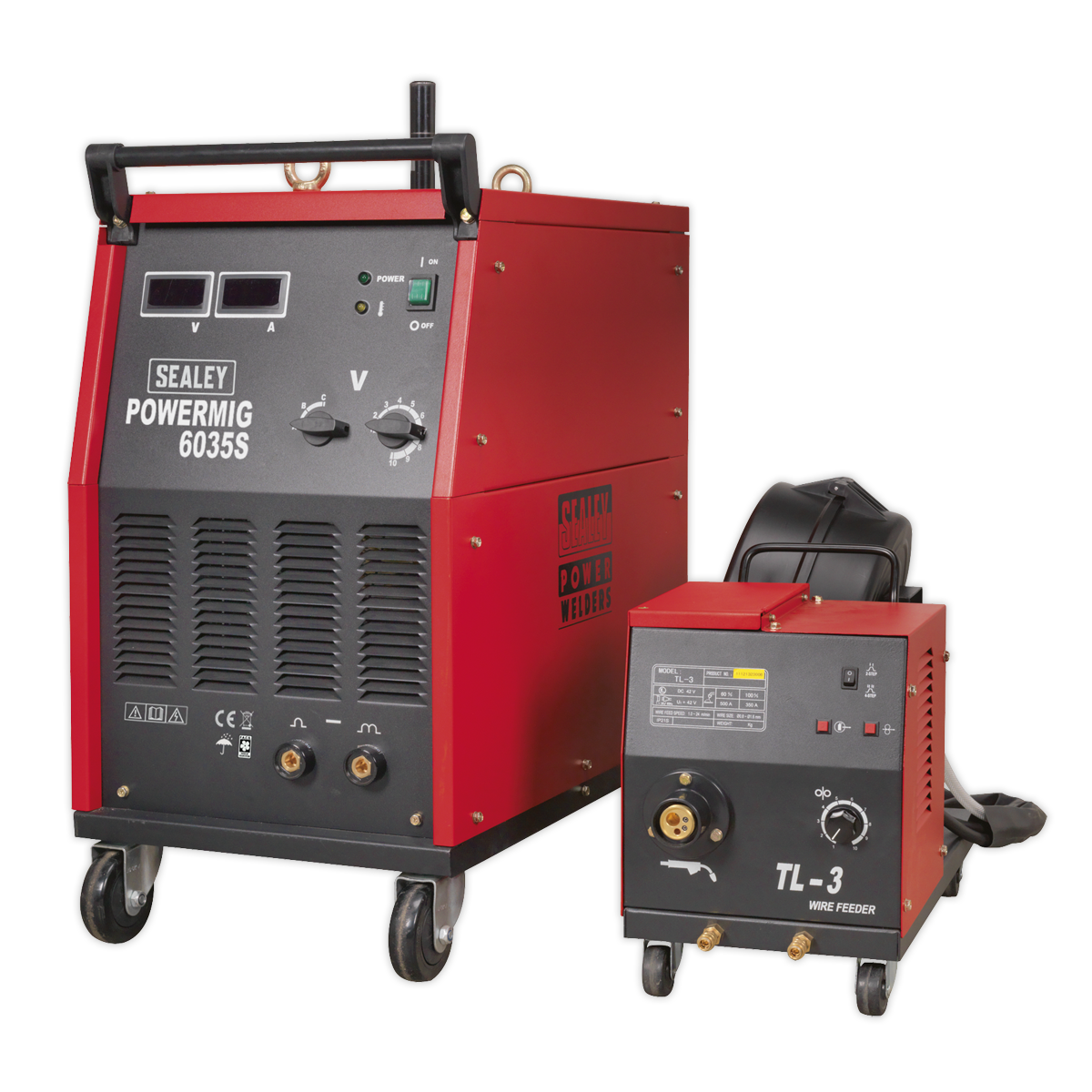 Professional MIG Welder 350A 415V 3ph with Binzel® Euro Torch & Portable Wire Drive