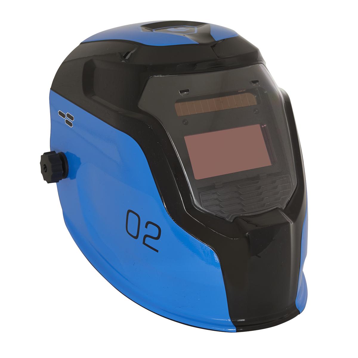 Auto Darkening Welding Helmet Shade 9-13 - Blue
