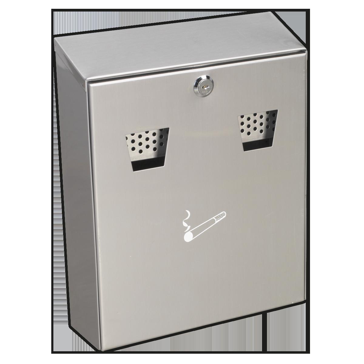 Cigarette Bin Wall Mounting Stainless Steel
