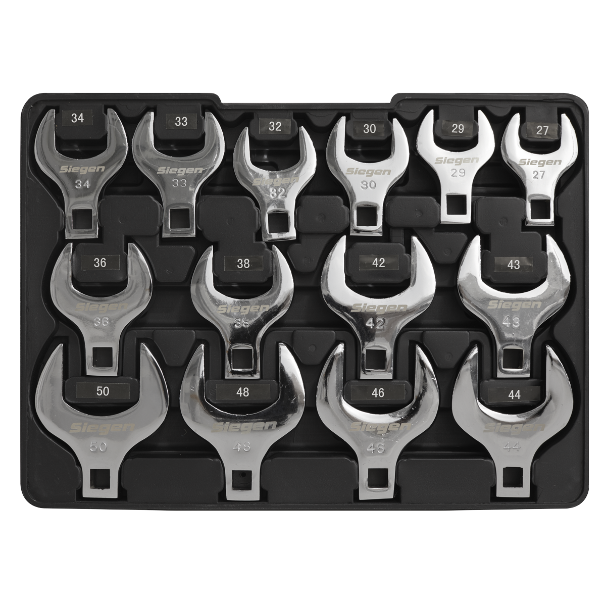 "Crow""s Foot Open End Spanner Set 14pc 1/2""Sq Drive Metric"