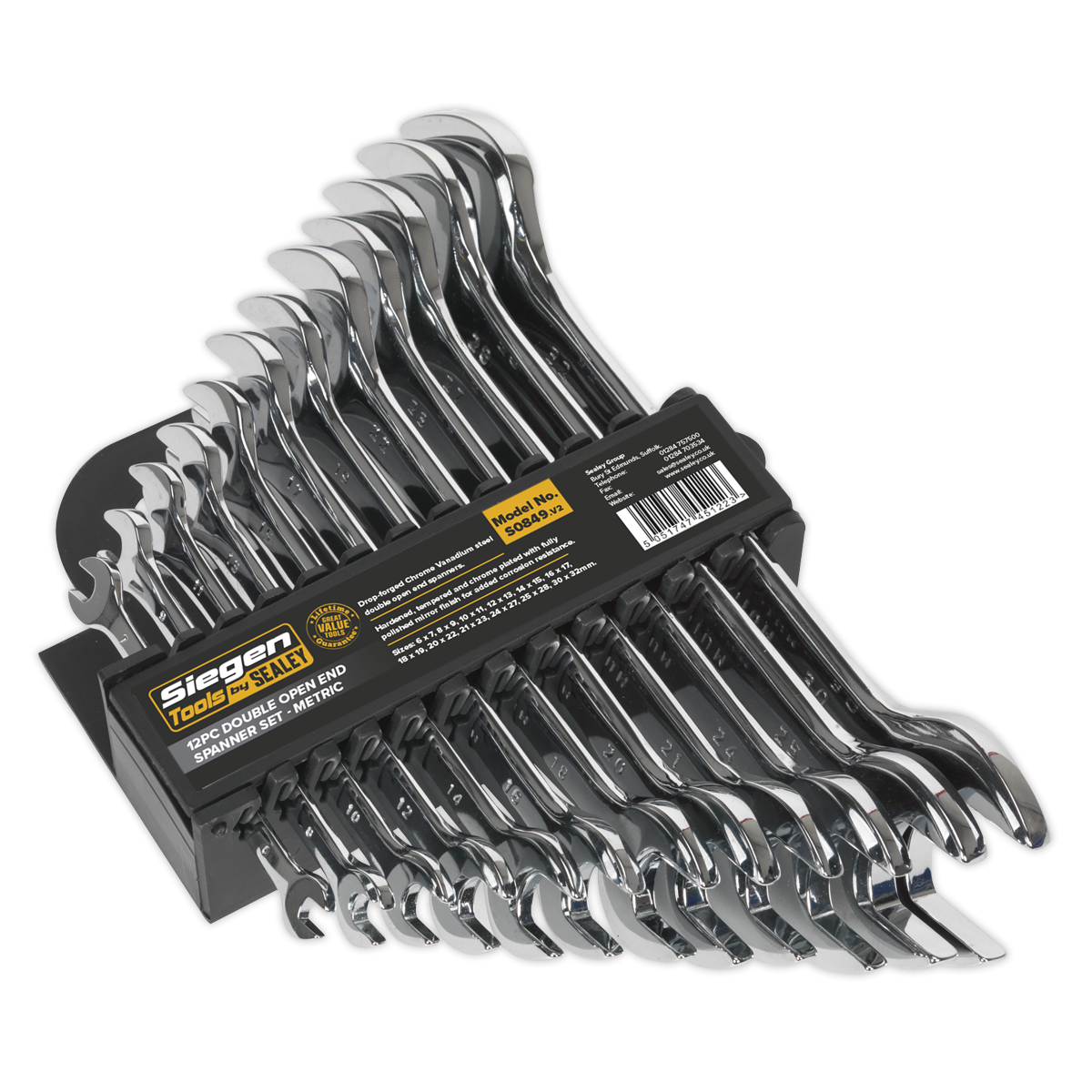 Double Open-End Spanner Set 12pc Metric