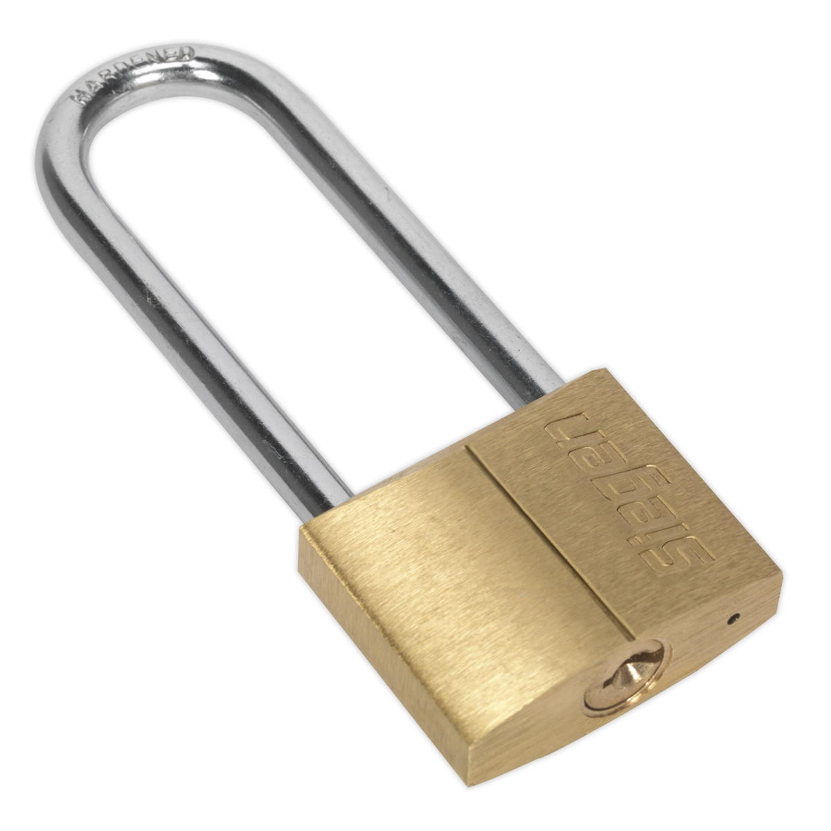 Brass Body Padlock with Brass Cylinder Long Shackle 40mm