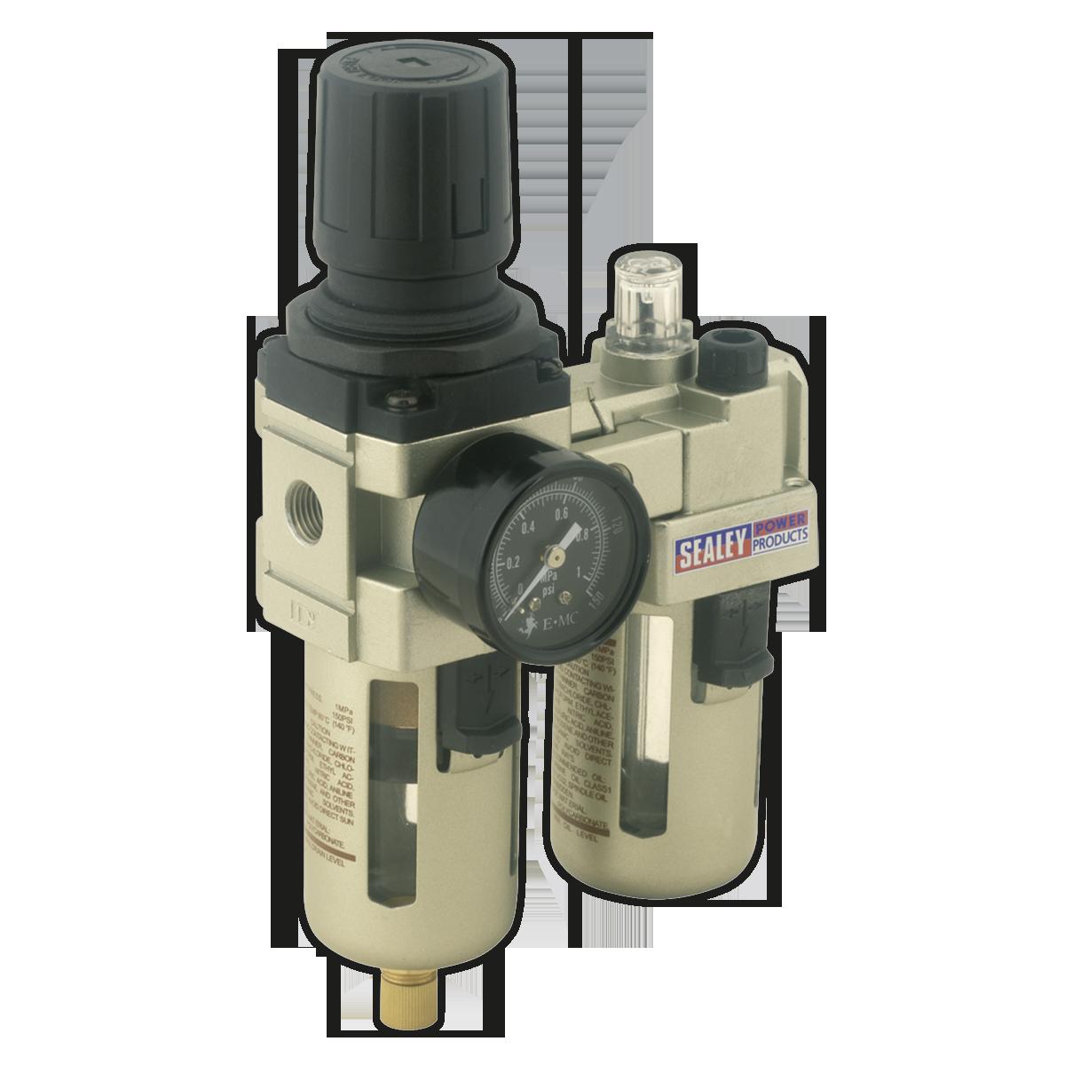 Air Filter/Regulator/Lubricator Max Airflow 60cfm