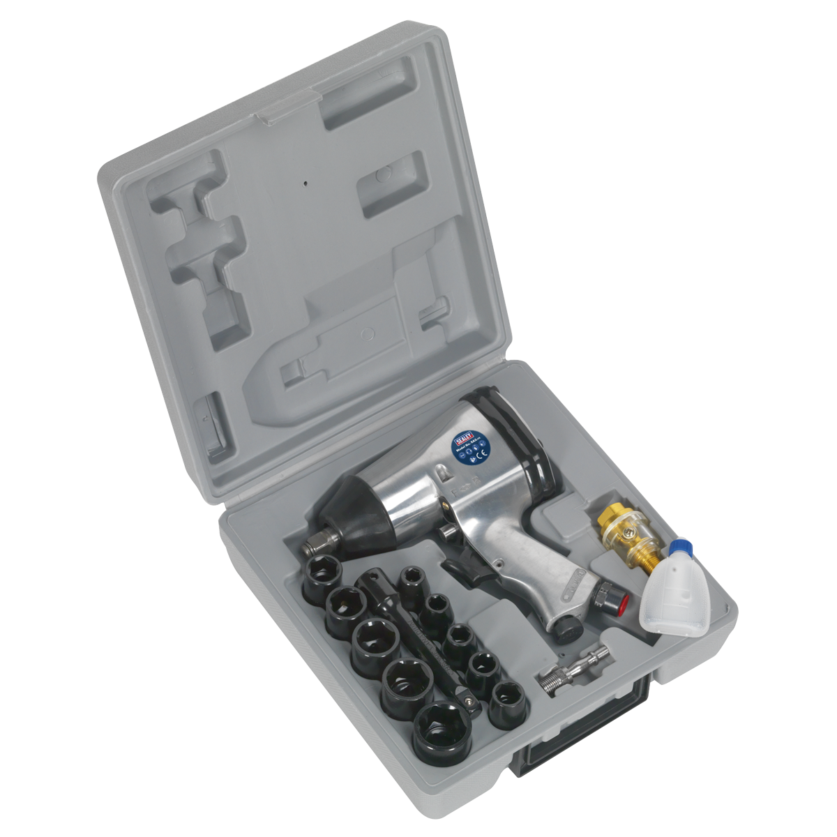 """Air Impact Wrench Kit with Sockets 1/2""""Sq Drive"""