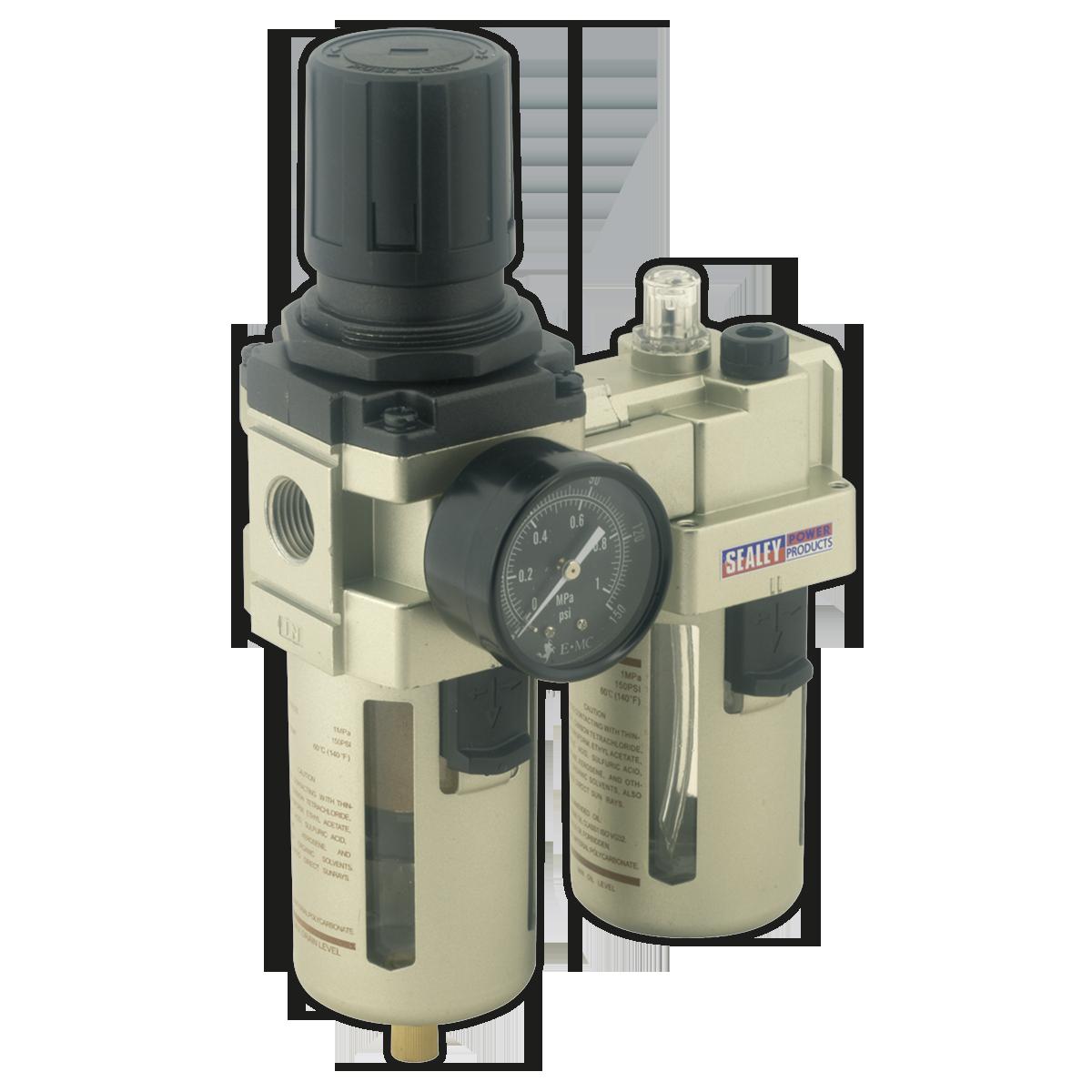 Air Filter/Regulator/Lubricator Max Airflow 105cfm