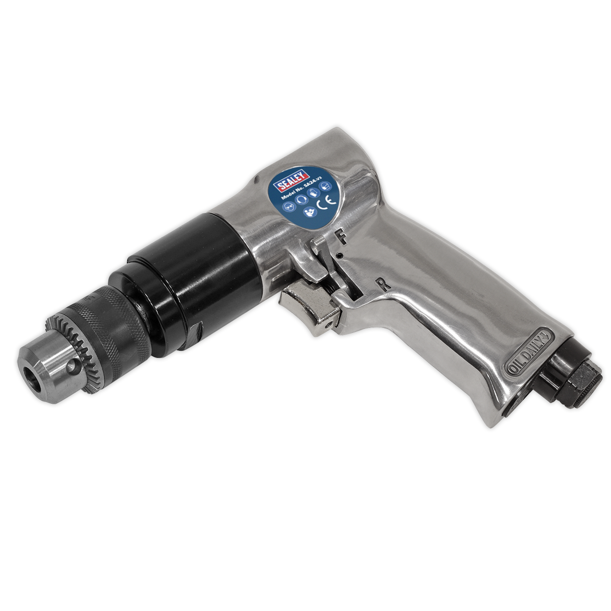 Air Drill Ø10mm 1800rpm Reversible