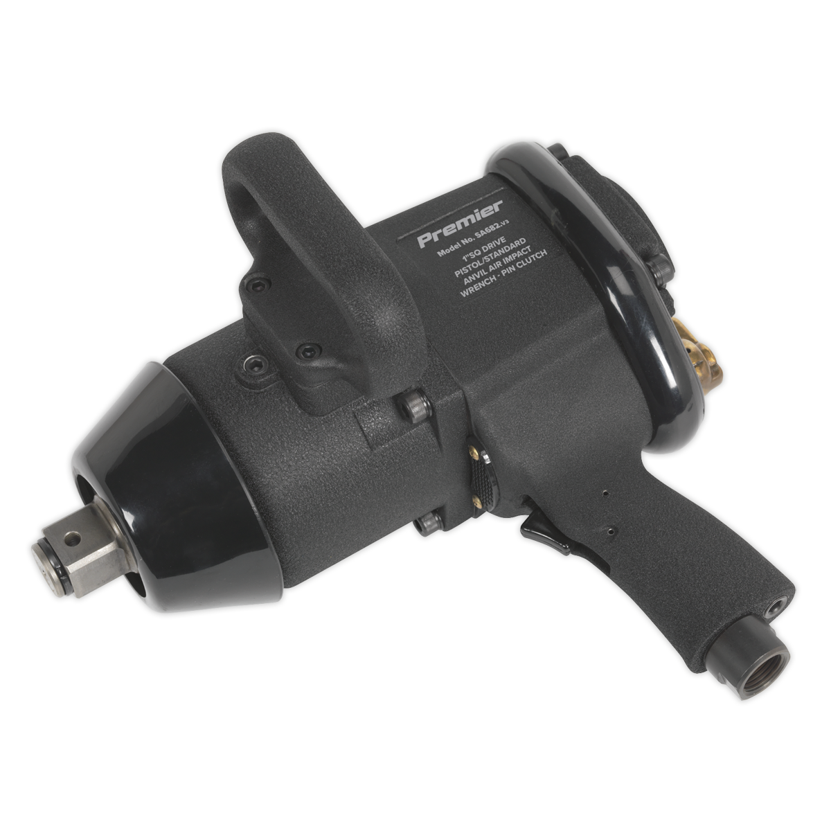 "Air Impact Wrench 1""Sq Drive Pin Clutch Pistol/Standard Anvil"