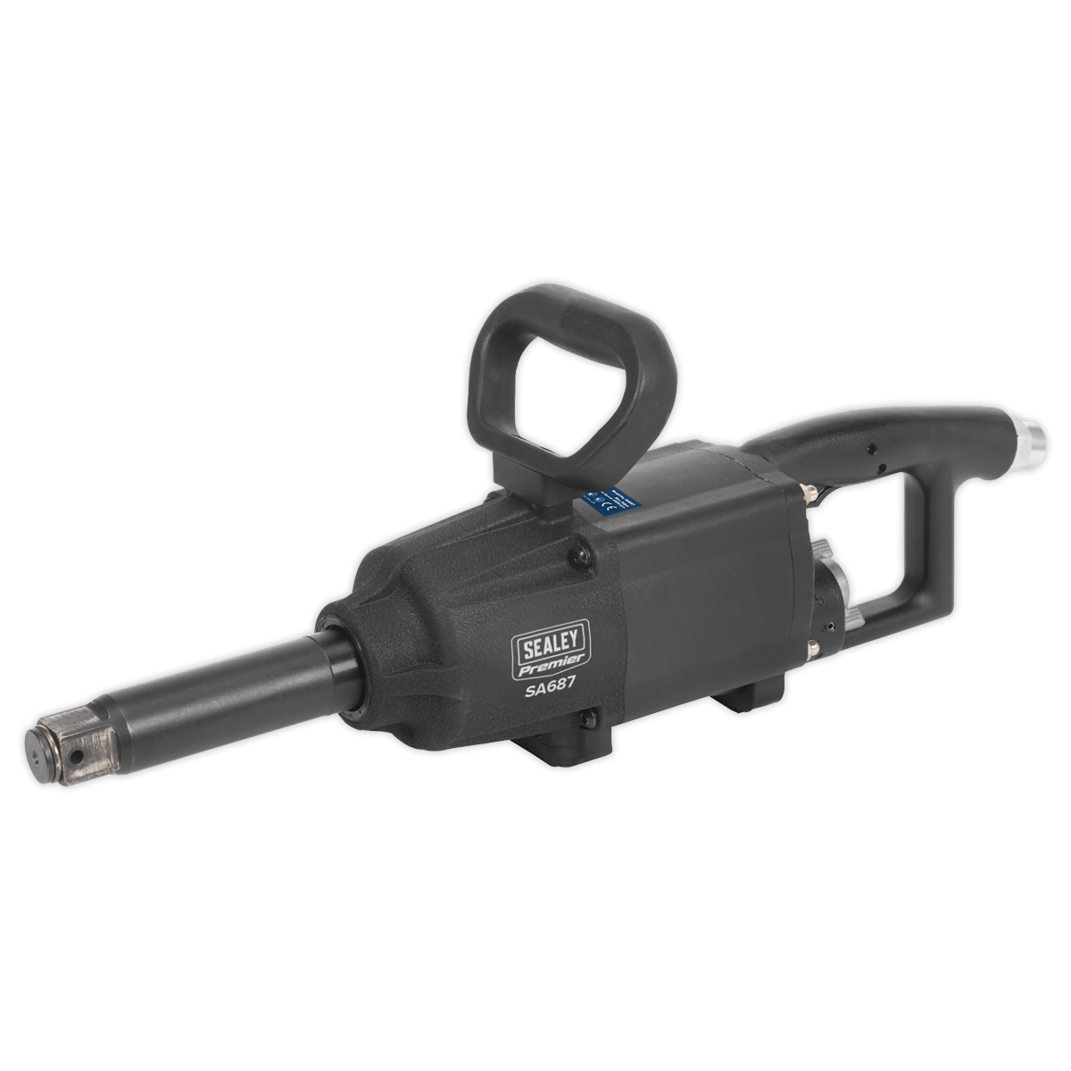 """Air Impact Wrench 1""""Sq Drive Twin Hammer Straight Long Anvil"""