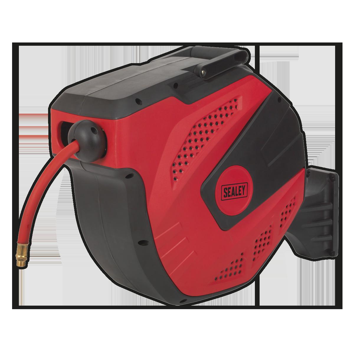 Air Hose Reel Auto-Rewind Control 15m Ø10mm ID - Rubber Hose
