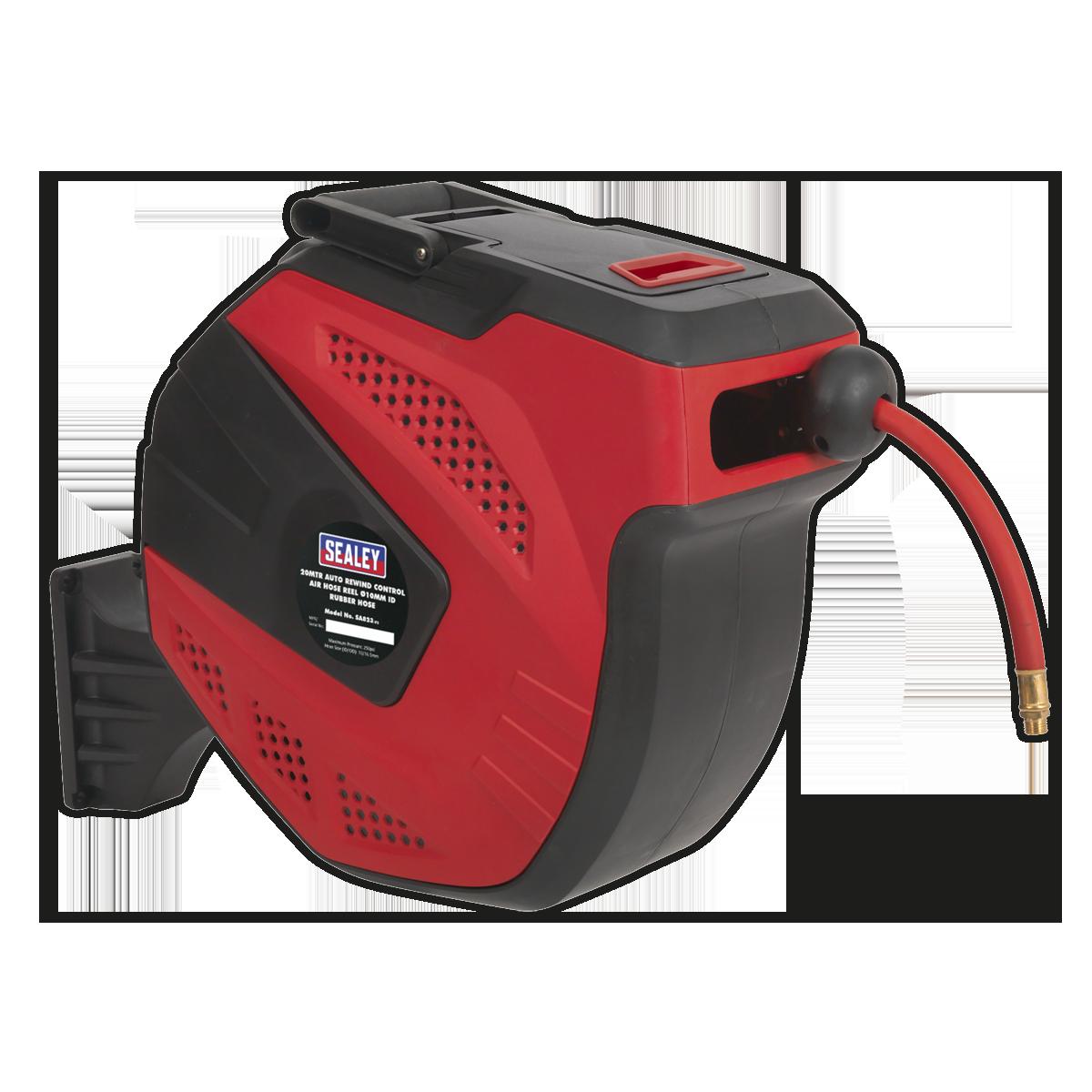 Air Hose Reel Auto-Rewind Control 20m Ø10mm ID - Rubber Hose