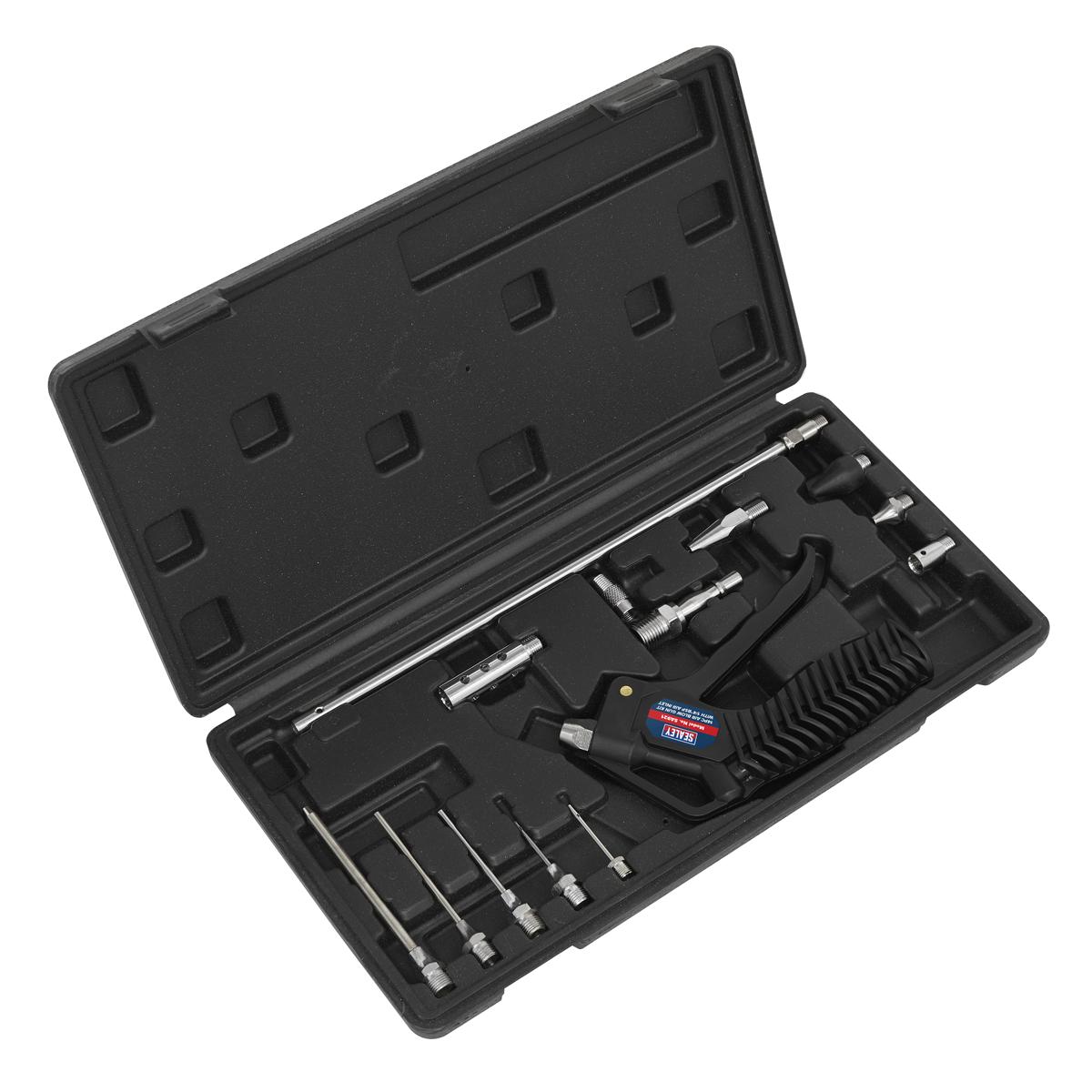 """Air Blow Gun Kit 14pc with 1/4""""BSP Air Inlet"""