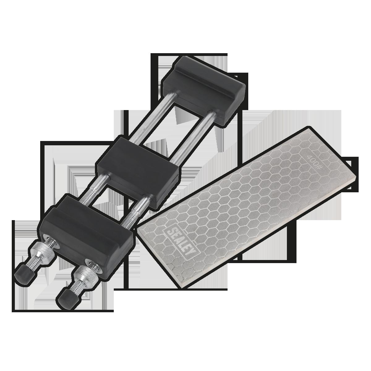 Combination Diamond Sharpening Whetstone with Adjustable Stone Holder