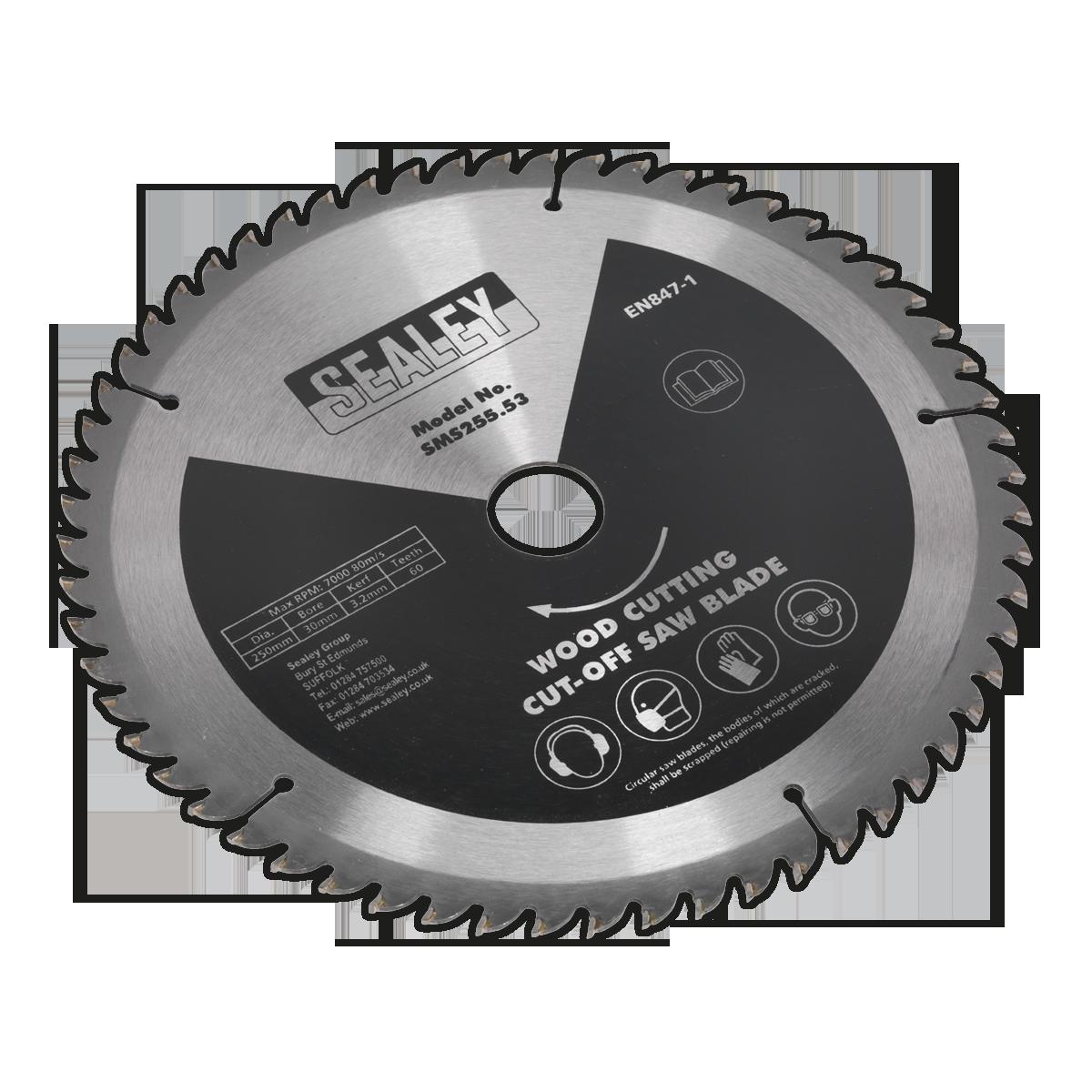 Cut-Off Saw Blade 250 x 3.2mm 30mm 60tpu